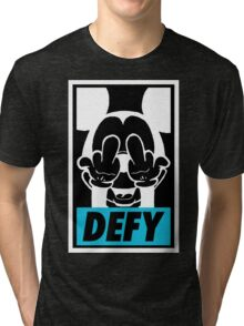 Mickey Says DEFY - Inverted Tri-blend T-Shirt