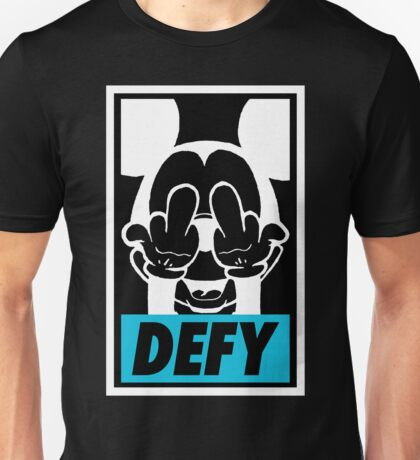 Mickey Says DEFY - Inverted Unisex T-Shirt