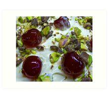 Pistachio & Cherry Cheesecake Art Print