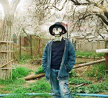 Gas Mask Boy by krolikowskiart