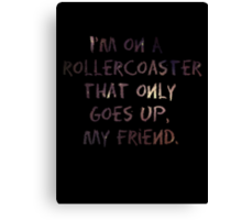 Life's A Rollercoaster Canvas Print