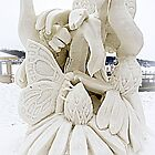 Flowers And Butterfly Snow Sculpture by kkphoto1