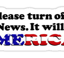 Please Turn Off Fox News (Bumper Sticker) Sticker