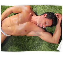 Sleeping hunk Poster