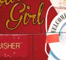 Our Golden Girl - Nose Art Sticker