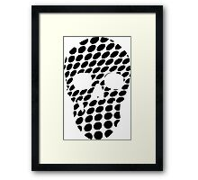 Dots and a Skull Framed Print