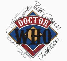 Doctor Who Autographs around a Logo by MnRMnR