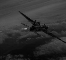 Gunner's call black and white version by Gary Eason + Flight Artworks