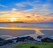 Polzeath Cornwall Sunset by Chris Thaxter