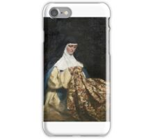 Talbot Hughes - A Nun Embroidering Fabric.  iPhone Case/Skin