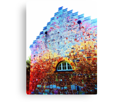 Scary Crying House - Unique Photography  Canvas Print