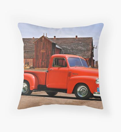 1953 Chevrolet 'Tomato' Truck Throw Pillow