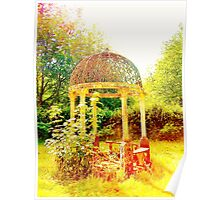 Old Fashioned Gazebo- Unique Photography  Poster