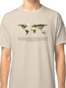 Cabin Pressure Locations Map Classic T-Shirt