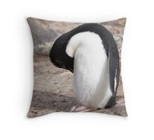 "Rockhopper Penguin ~ ""Big Foot"" Throw Pillow"