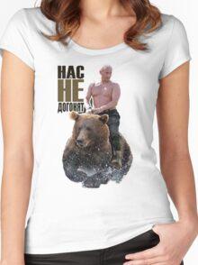 PUTIN riding a bear Women's Fitted Scoop T-Shirt