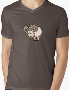 Funny Aries Sheep Mens V-Neck T-Shirt