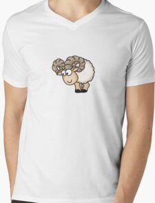 Funny Aries Sheep Mens V-Neck T-Shirt