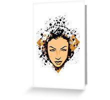 Face Splatter Greeting Card