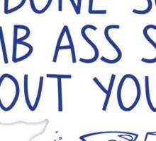It's okay alcohol Sticker