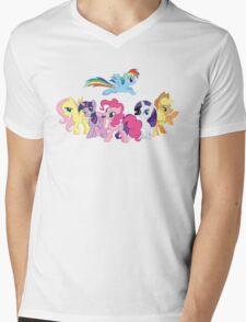 The Ponies Mens V-Neck T-Shirt