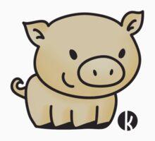 Cute little pig by katelein