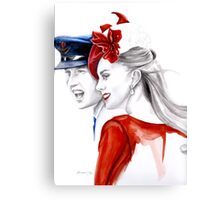 Prince William and Kate Middleton by Elina Sheripova Canvas Print