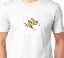Skiing Bunny Unisex T-Shirt