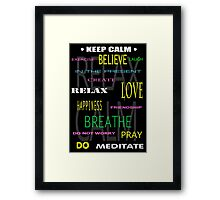 KEEP CALM DIY THERAPY PANEL Framed Print
