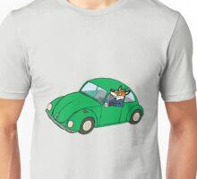 Fox driving a volkwagen Unisex T-Shirt