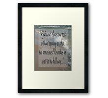Saying 8 Framed Print