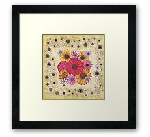 Copic Flowers Framed Print