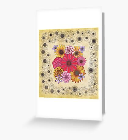 Copic Flowers Greeting Card