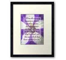 Saying 40 Framed Print
