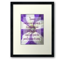 Saying 41 Framed Print