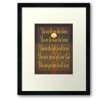 Saying 47a Framed Print