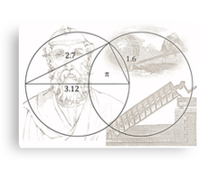 ARCHIMEDES and his PI CONSTANT Metal Print