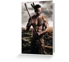 Athleticus II Maori Feb Greeting Card
