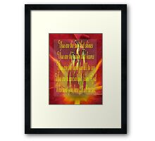 Saying 51 Framed Print