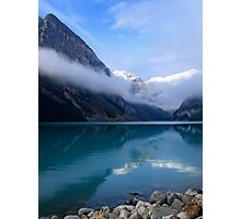 MISTY MORNING at LAKE LOUISE - CANADA Photographic Print