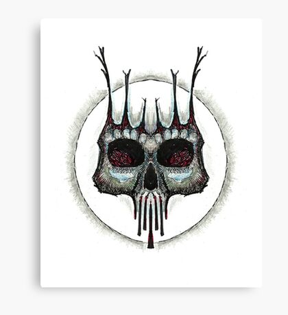 ink skull Canvas Print