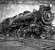 LOCOMOTIVE NO. 3863 in for REPAIRS by Daniel-Hagerman
