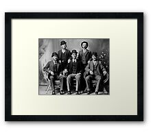 WILD BUNCH GANG of the OLD WEST c. 1900 Framed Print
