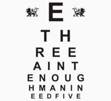 Big E Langston Eye Chart Kids Clothes