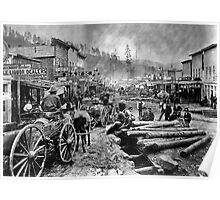 SOUTH DAKOTA's DEADWOOD CITY c. 1876 Poster