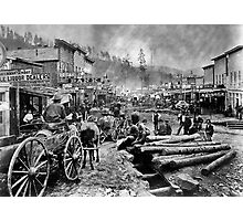 SOUTH DAKOTA's DEADWOOD CITY c. 1876 Photographic Print