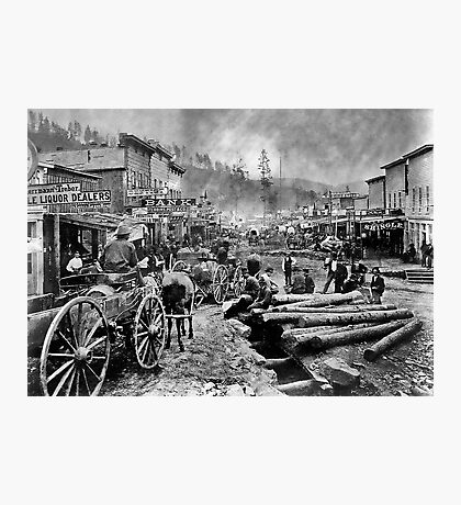 SOUTH DAKOTA's DEADWOOD CITY c. 1876 Photographic Print