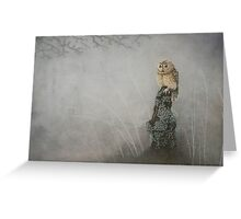 Misty Twilight Owl Greeting Card