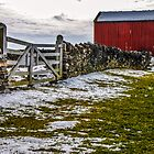 Shakertown Red Barn by mcstory