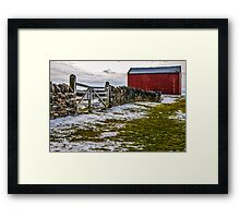 Shakertown Red Barn Framed Print